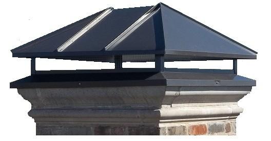Hip Roof Black Chimney Cap