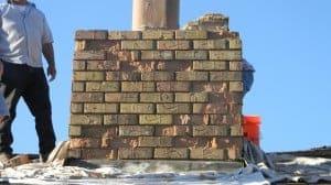 Rebuild Masonry Chimney Before Picture