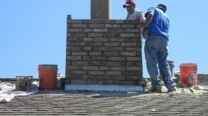 Rebuild Masonry Chimney During Repairs