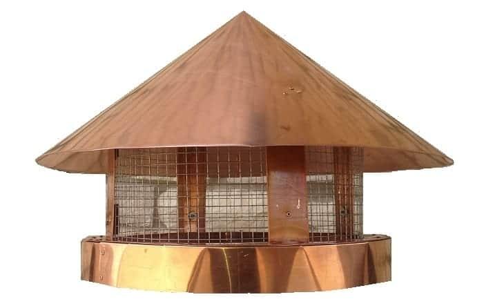 Copper Chimney Cap Pot Topper