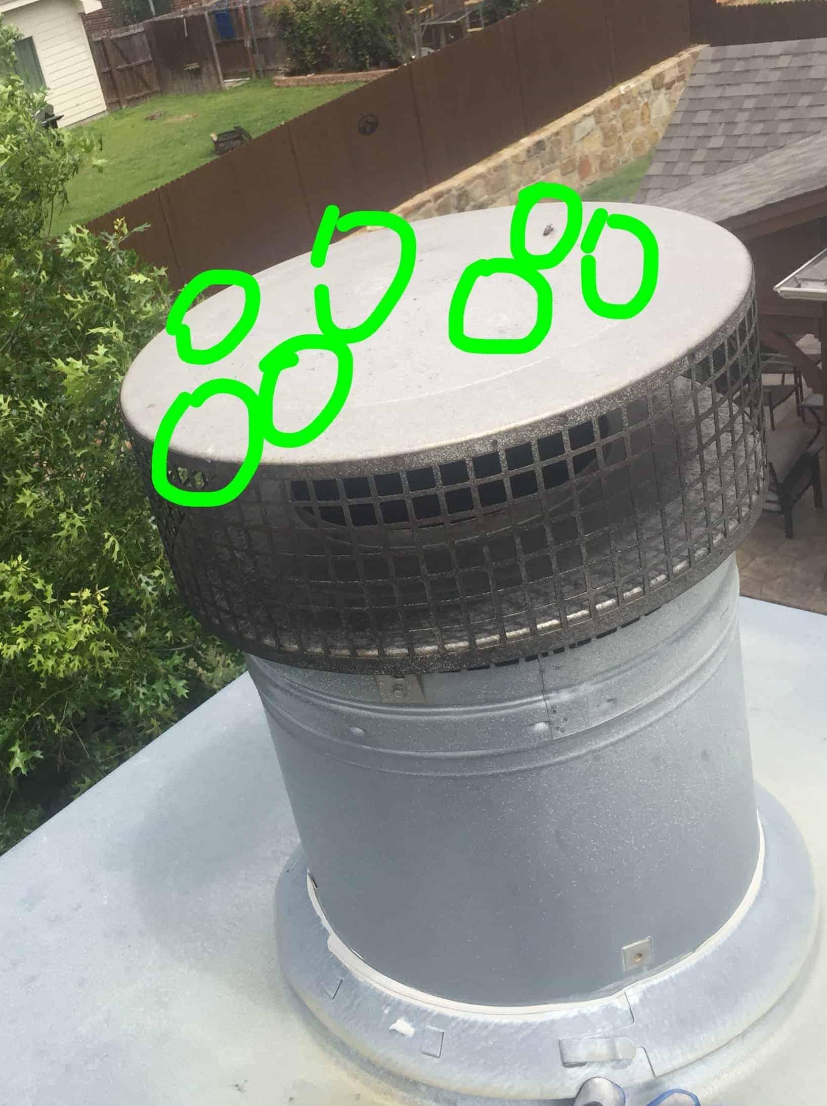 Hail Damaged Chimney Cap Min Mastersservices