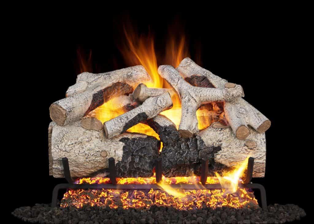 Charred Burnt Aspen Gas Logs