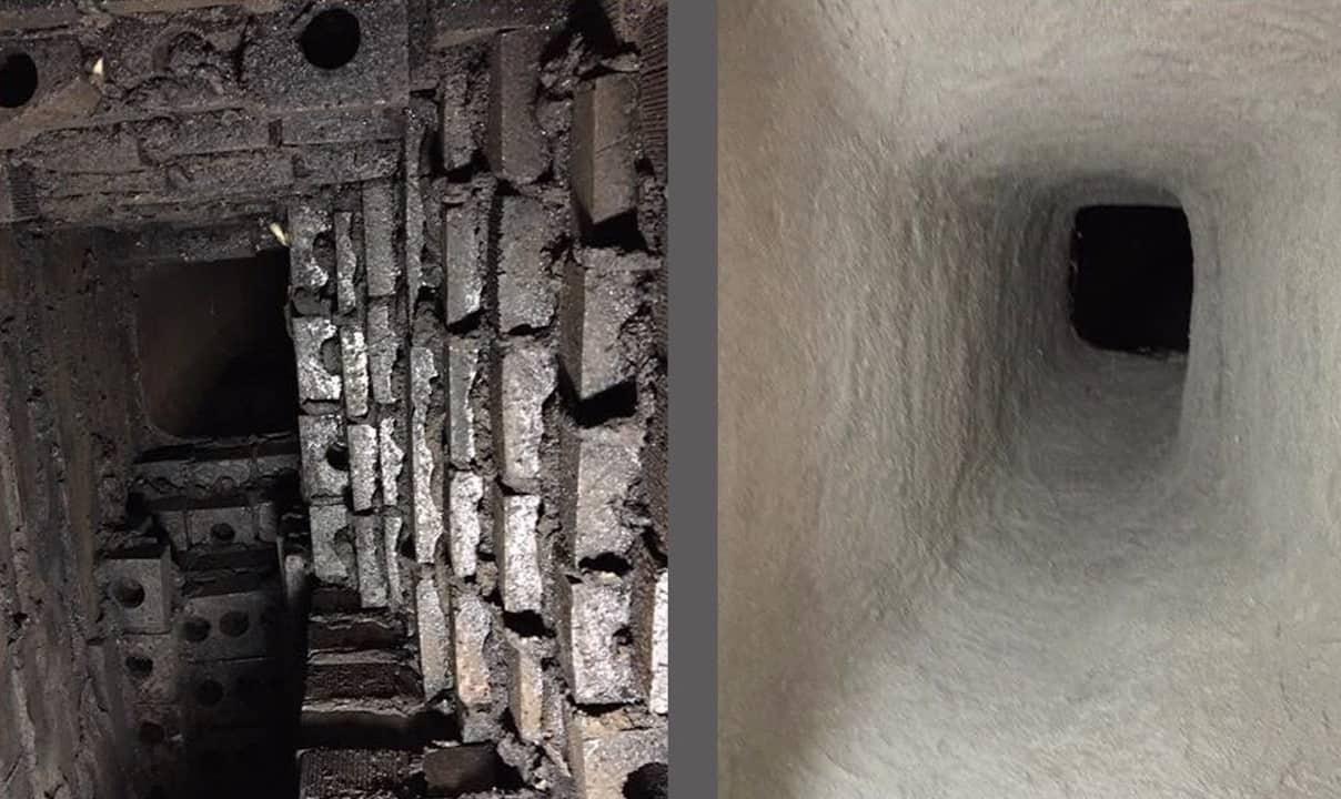 chimney smoke chamber relining